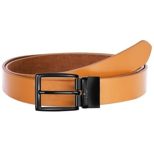 Mens Leather Belt With Metal Buckles