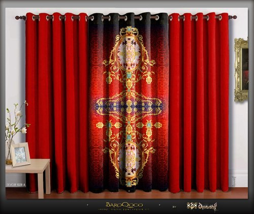Alluring Design Printed Polyester Curtain