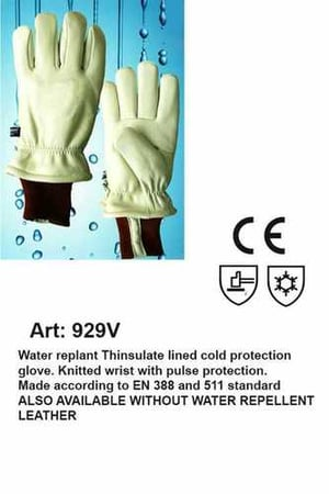 3M Thinsulte Line Cold Storage Leather Gloves