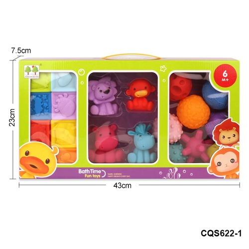 Bath Time Fun Soft Plastic Intelligent Touch Ball Set