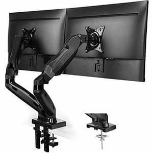 Dual Monitor Stand Gas Spring Arm 360\\302\\260 Rotatable