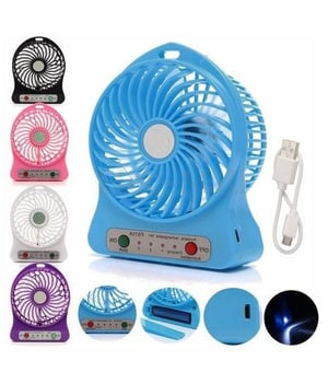 Hi Touch Mini Portable Usb Rechargeable 3 Speed Fan