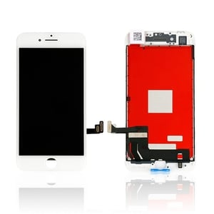 I Phone 8 White Lcd Display with Touch Screen Folder Combo Assembly