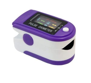 Blue And White Pulse Oximeter