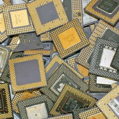 Intel Pentium Pro Ceramic/Cpu Processor Scrap With Gold Pins