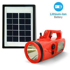 5W Rechargeable Solar Lithium Ion Torch