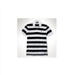 Mens Knitted Stripped Polo T Shirt