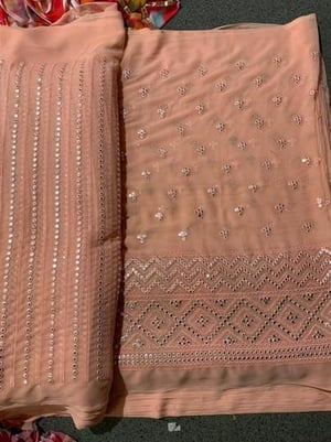 Embroidery Fabric For Saree Use