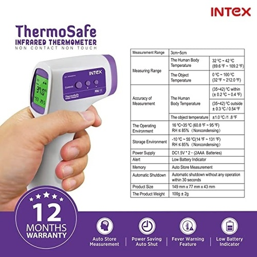 Non Contact Thermosafe Infrared Thermometer