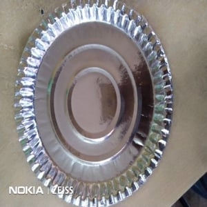12 Inch Silver Foil Paper Plates for Utility Dishes