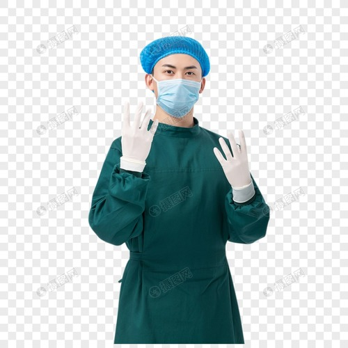 Green Color 100% Cotton Doctor Gown