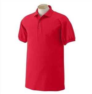 Short Sleeve Red Polo T Shirt