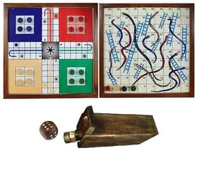 Wooden Magnetic Ludo Game