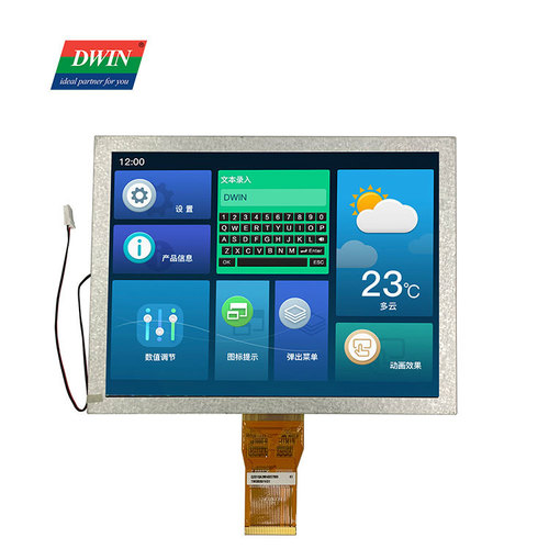 DWIN 10.4 Inch Smart LCD Display 800*600 LCD Module with RGB Interface