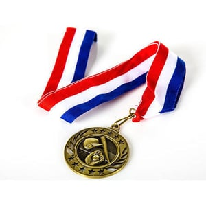 Round Brass Olympic Medal