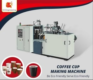 4 Color Printed Coffee Cup Making Machine