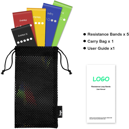 Eco Friendly Fashion Custom Logo Fitness Latex Resistance Mini Bands