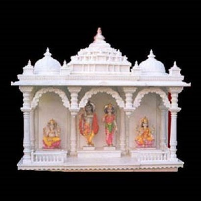 Easy To Clean White Marble Home Temple