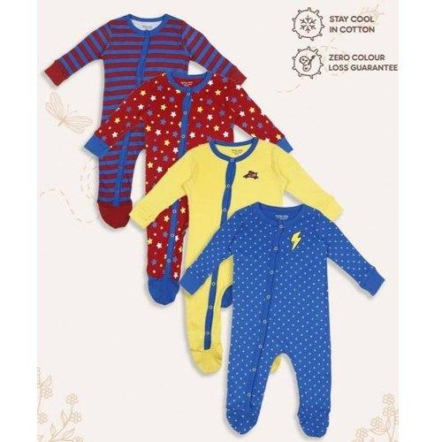 Girl and Boy Cotton Baby Sleepsuit