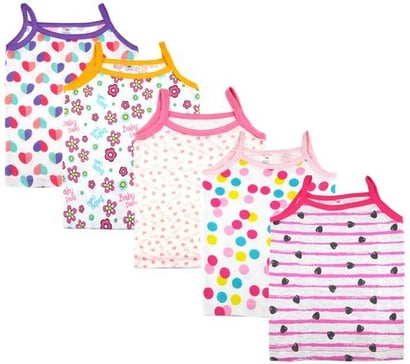 All Sleeveless Printed Baby Cotton Vest