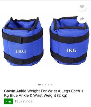 Blue Color Ankle Weights