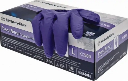 Blue Powder Free Nitrile Examination Gloves