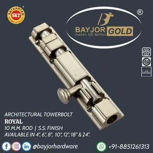10mm SS Finish Architectural Towerbolt