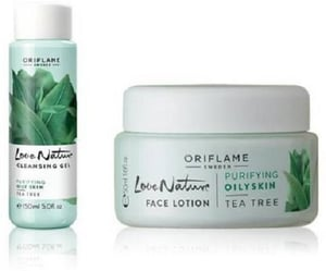 Face Lotion And Cleansing Gel Combo