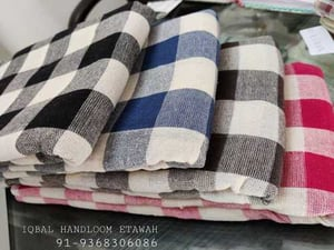 100% Cotton Checked Bedsheet