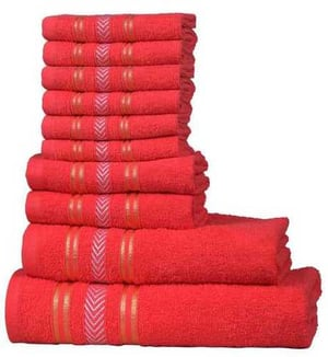 Red Cotton Terry Towel