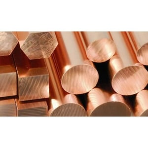 Copper Round Bar with Bright Finish