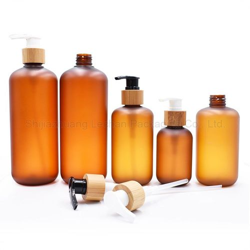Amber Frosted Plastic Lotion Bottles