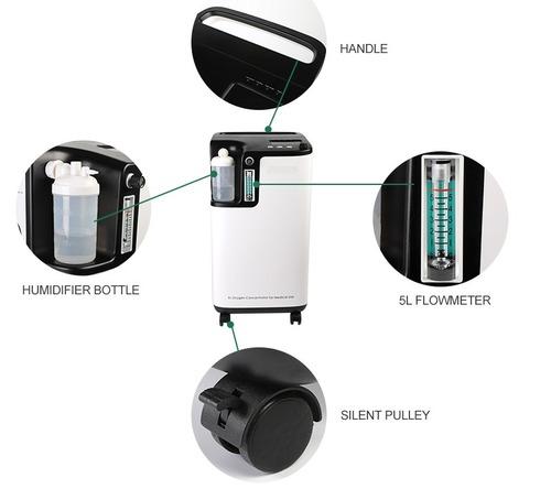 Purity 96% Mini 5l 7l 10l 20ltr Portable Oxygen Concentrator