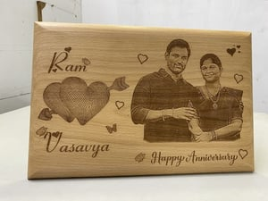 Anniversary Wood Gifts Engraving Service