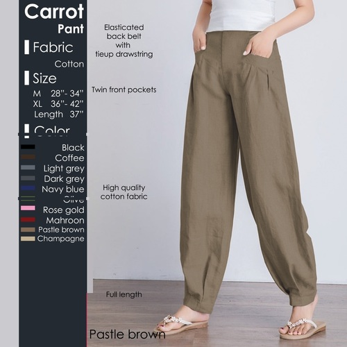 Comfort To Wear Carrot Pant