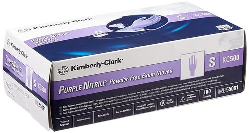 Kimberly Clark Purple Nitrile Exam Gloves