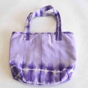 Beautifully Tie And Dye Work On Cotton Canvas Bag