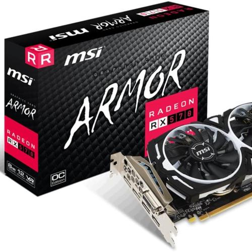 Radeon Rx 570 Armor 8g Oc Graphics Card 8gb Gddr5 1268hz Amd Polaris 20 Xl Gpu 3x Displayport Dvi-D Dual Fan Cool