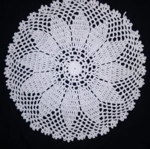 16 Inch Crochet Table Cover