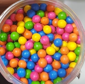 Colored Chocolate Coated Rice Balls