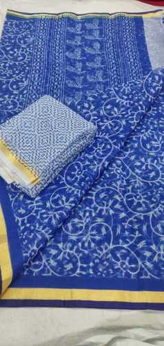 Kota Doriya Printed Saree With Blouse
