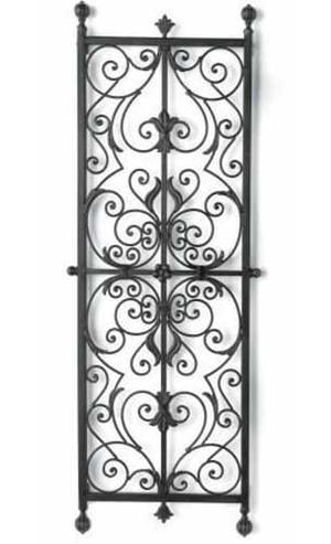 Black Painted Iron Grill