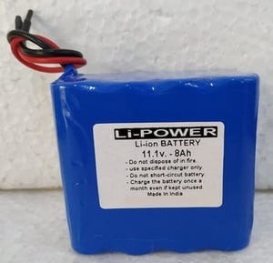 8Ah Rechargeable Solar Light Lithium Ion Battery Pack