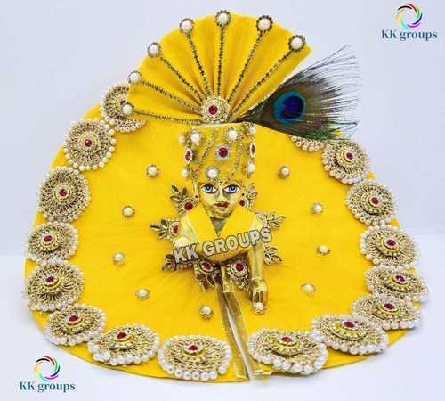 Laddu Gopal Dress Yellow Heavy Article