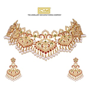 22k Gold Necklace And Earring