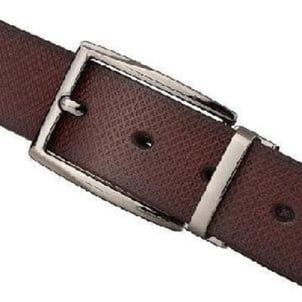 Brown Mens Leather Belts With Simple Buckle