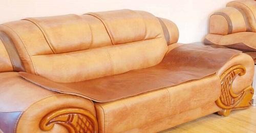 Home Leather Sofa Cushion Cover Three Seats