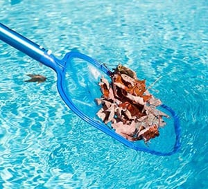 Swimming Pool Leaf Skimmer Fine Mesh Shallow Cleaning Net