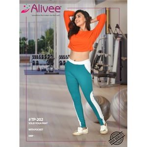 Solid Yoga Pant For Ladies