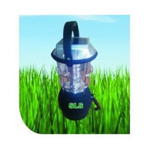 Blue Rechargeable LED Solar Camping Lantern
